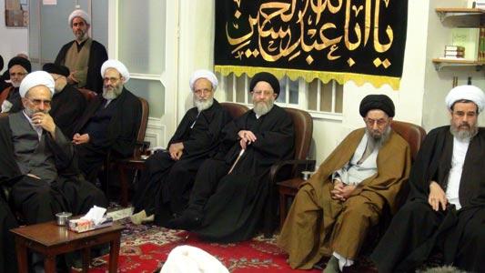 مراسم در دفتر حضرت آیت الله محمد فاضل لنکرانی قدس سره (هفتم ماه محرم 1433)