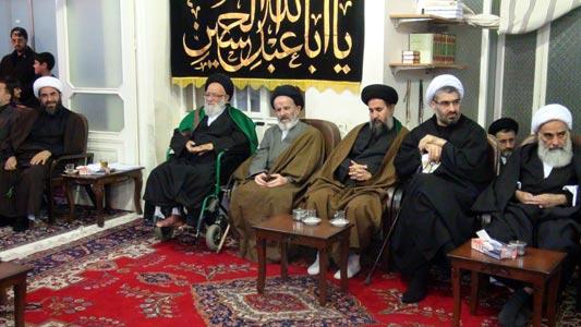 مراسم در دفتر حضرت آیت الله محمد فاضل لنکرانی قدس سره (دهم ماه محرم 1433) عصر عاشورا
