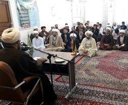 دیدار حضرت آیت الله فاضل لنکرانی با طلاب مرکز فقهی مشهد