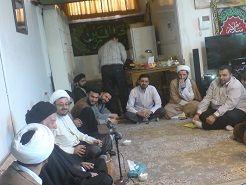 دیدار طلاب شرکت کننده در اردوی مشهد با حضرت آیت الله خلخالی (زیدعزه)