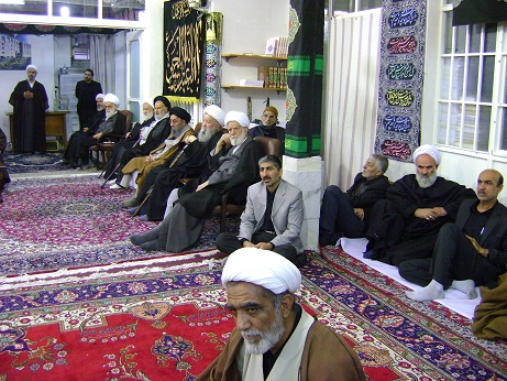 Mourning Ceremony of Imam hussain(a.s.) in the Office of Late Grand Ayatollah Muhammad Fazel Lankarani (3th of Muharram1434)
