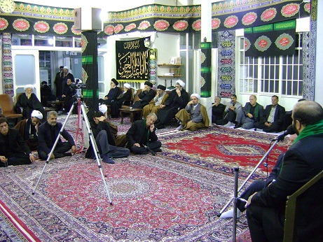 Mourning Ceremony of Imam hussain(a.s.) in the Office of Late Grand Ayatollah Muhammad Fazel Lankarani (5th of Muharram1434)