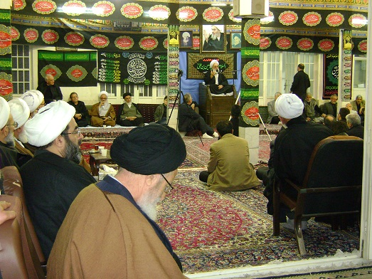 Mourning Ceremony of Imam hussain(a.s.) in the Office of Late Grand Ayatollah Muhammad Fazel Lankarani (7th of Muharram1434)