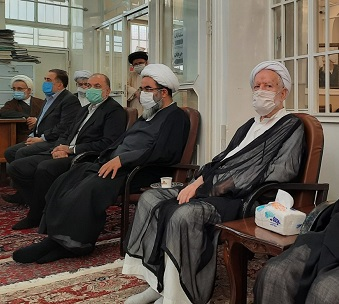مراسم بزرگداشت سی و دومین سالگرد ارتحال امام خمینی(ره) در دفتر آیتالله فاضل لنکرانی
