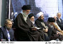 حضور معظم له در مراسم سالگرد درگذشت حاج سيد احمد خميني(ره)