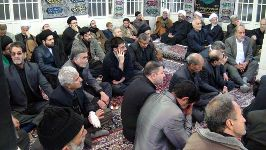 مراسم در دفتر حضرت آیت الله محمد فاضل لنکرانی قدس سره (هشتم ماه محرم 1433)