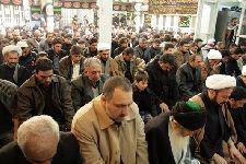 مراسم در دفتر حضرت آیت الله محمد فاضل لنکرانی قدس سره (دهم ماه محرم 1433) ظهر عاشورا