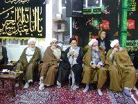 مراسم عزاداری در دفتر حضرت آیت الله محمد فاضل لنکرانی(قدس سره) دهه محرم 1435