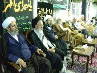 مراسم روضه در دفتر حضرت آیت الله محمد فاضل لنکرانی قدس سره(فاطمیه دوم1434)