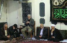 مراسم روضه در دفتر حضرت آیت الله محمد فاضل لنکرانی قدس سره(فاطمیه اول1434)