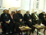 مراسم عزاداری در دفتر حضرت آیت الله محمد فاضل لنکرانی(قدس سره) دهه محرم 1436