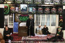 مراسم سوگواري در دفتر حضرت آیت الله العظمي فاضل لنکرانی قدس سره(فاطمیه دوم)