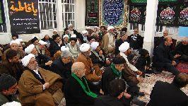 مراسم سوگواري در دفتر حضرت آیت الله العظمي فاضل لنکرانی قدس سره(فاطمیه اول - جمادي الاولي 1437) - 2