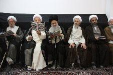 شرکت  در مراسم ترحيم برادر آيت الله سبحانی