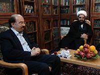 دیدار حجة الاسلام والمسلمين آقاي سيد عبدالعزيز حکيم  با معظم له