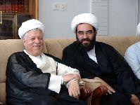 دیدار آيت الله هاشمی رفسنجانی با بيت مرجع فقيد حضرت آيت الله العظمي فاضل لنکراني
