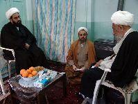 دیدار معظم له با آیت الله انصاری شیرازی