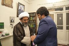 دیدار مهندس حسيني کاشاني مدير کل اداره فرهنگ و ارشاد اسلامي قم
