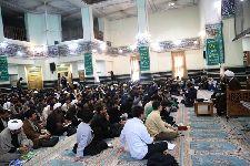 درس اخلاق معظم له در جمع طلاب غیر ایرانی مجتمع عالی امام خمینی(قده)