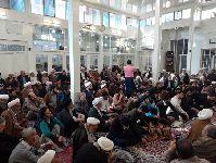 حضور حضرت آيت الله العظمی مکارم شيرازی(دامت برکاته) در مراسم روضه دفتر آيت الله العظمی فاضل لنکرانی(قدس سره)