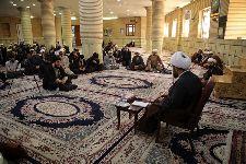 درس اخلاق معظم له در مسجد مرکز فقهی